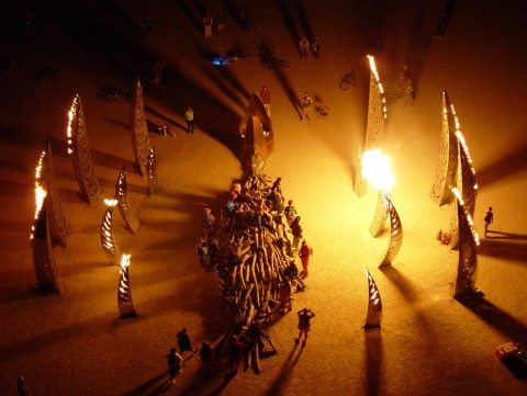 The Angel of the Apocalypse by the Flaming Lotus Girls at Burning Man 2005